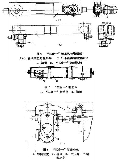 小车,通过连接装置来牵引电动葫芦,马达抓斗及轿厢等沿直线或环形悬挂